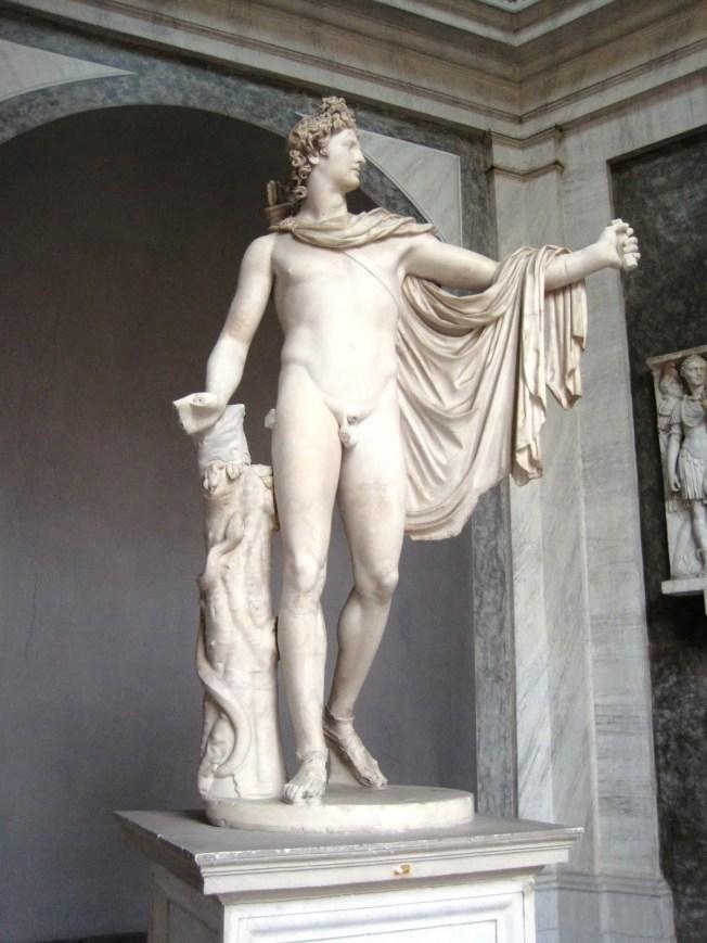 Apollo del Belvedere, Vatican Museum copy of a lost bronze dating 350 to 325 BC