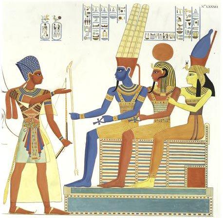 Theban Amun-Ra, Khon-Shu and Mut (Mata)