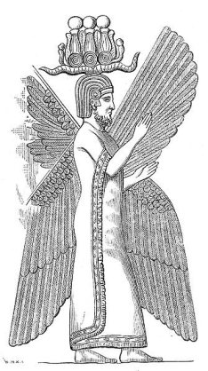 Fravashi of Cyrus the Great wearing the HemHem Crown