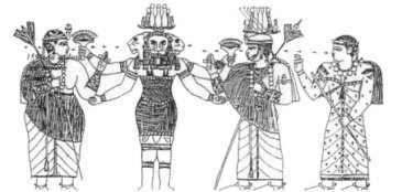 Here Amun-Ra as APADEMAK wears the Hemhemet Crown.