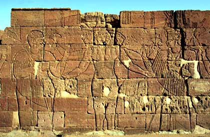 This is the relief (carving) that the used illustration has been made from. There are other depictions of Apademak still extant from the Era of Meroe.