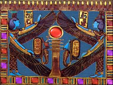 Jeweled pectoral from King Tut`s treasure