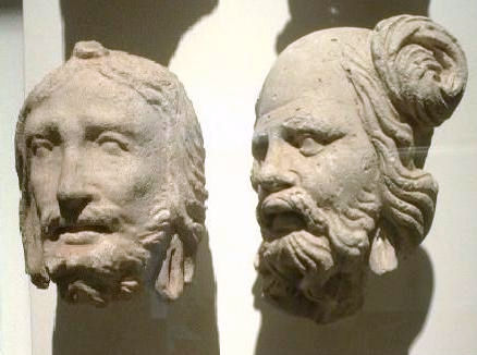 Portraits from the site of Hadda, Gandhara, 3rd century, Guimet Museum