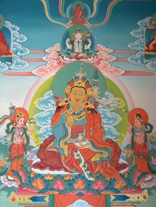 Trikaya: Padmasambhava, Avalokiteshvara, Amitabha