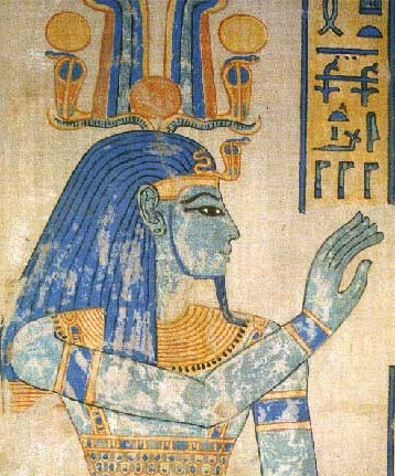 The Original Blue Color in this Ancient Egyptian Painting of HR = Heru Confirms that he was Blue like Hari = Krishna