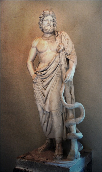 Dionysos (BALADEVA) Incarnates as Asclepios. Behold BALARAMA (Jesus Christ) as the Mature Asklepios-IASAS (Serapis and Charaka), the Great Physician and All-Healing Savior of All Worlds! Lord Ananta Baladeva as the Ayur Vedic Great Physician Charaka was traditionally a mature unshorn (bearded and long haired) wandering mendicant healer. As the Deity Charaka (not the later court physician Charaka), His identity as GOD (Sam-Karshana, Baladeva) was 'hidden' to the World, but when He appeared as Jesus Christ, it was revealed to His Disciples.