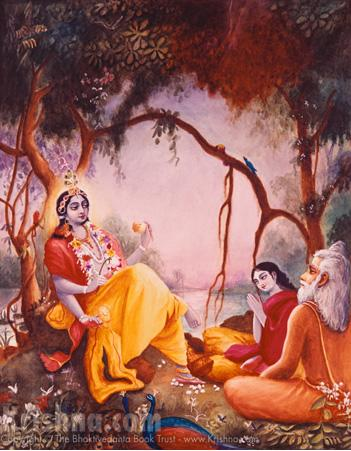 Uddhava hears from Krsna
